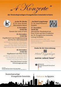Konzertprogramm November 2014